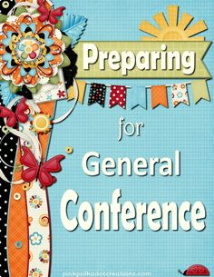Preparing-for-Conference-a fun roundup of ideas to do to prepare yourself and your family for General Conference for The Church of Jesus Christ of Latter Day Saints! Latter Days, Latter Day Saints, Conference Invitation, Visiting Teaching, General Conference, Reading Challenge, Relief Society, Pink Polka Dots, Young Women