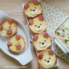 Cute piggy & doggie toast by Russet (@thismommymakes)