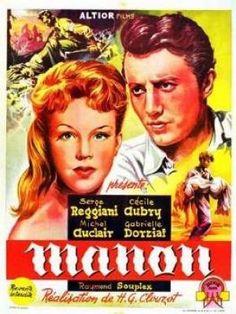 1949 ‧ Policier, Drame ‧ 1h40 de Henri-Georges Clouzot avec Cécile Aubry, Michel Auclair - Transposition de l'histoire de Manon Lescaut dans la France de 1944.