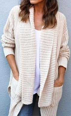 c02793dec2 Beige Women s Comfy Cozy Pocketed Cardigan