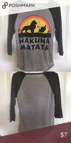 3/4 sleeve Disney t-shirt Super nice cotton how are you Esterbrook and three-quarter sleeve T-shirt gray colors gray and dark gray sleeves Disney Tops Tees - Short Sleeve
