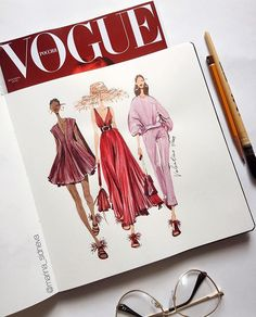 Trendy fashion illustration vogue sketches 18 ideas - fits your own style . - Trendy fashion illustration vogue sketches 18 ideas – fits your own style instead of hours of pre - Fashion Sketchbook, Fashion Illustration Sketches, Fashion Sketches, Fashion Design Illustrations, Sketchbook Drawings, Vogue Fashion, Fashion Art, Artist Fashion, Fashion Ideas