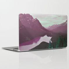 Buy Velvet Peak by 83oranges.com as a high quality Laptop & iPad Skin.#mountains, #peak, #landscape, #snow, #water, #beach, #photo, #digital, #velvet