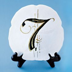 Sand Dollar Table Number