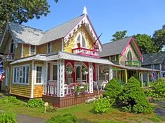 gingerbread cottages pictures | Oak Bluffs Gingerbread Cottages 3 Photograph