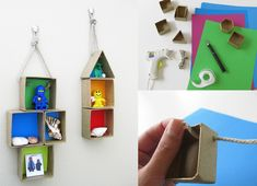 one day later than normal... due to me and my boys being sick... but please find here this week's new craft project. Make Tiny Shadow Boxes together with your child and decorate his or her room with them. Another great...