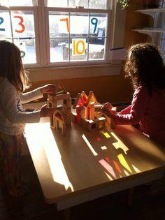 the wonder of light at Garden Gate Child Development Center