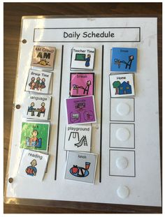 8 Types of Visual Student Schedules - The Autism Helper Special Education Activities, Autism Activities, Autism Resources, Special Education Teacher, Classroom Activities, Shape Activities, Sorting Activities, Preschool Learning, Teaching