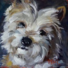 """""""Carter"""" by Pattie Wall. loose brush strokes. I love this kind of painting. Could get similar looking style with palette knife painting"""