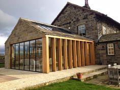SunSeeker Doors  glass panels within timber framed extension