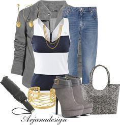 """Daily Denim 5/6/13"" by arjanadesign ❤ liked on Polyvore"