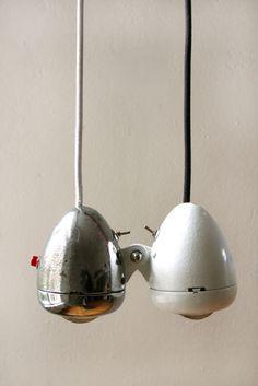 vintage bike light pendants