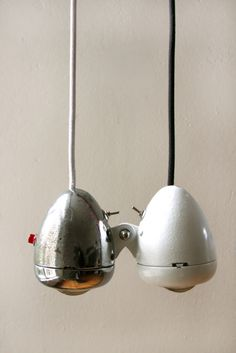 vintage bike light pendants