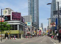 Corner of Yonge & Edwards Streets - 2016 Visit Toronto, Downtown Toronto, Silhouettes, Ontario, Buildings, Corner, Canada, Street, City