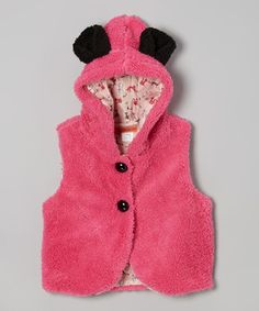 Love this Fuchsia Animal Ears Hooded Vest - Toddler & Girls by Funkyberry on #zulily! #zulilyfinds