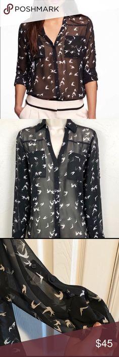 Shop Tommy Hilfiger Women's Polka Dot Roll Tab Shirt Ships