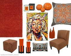 Tangerine Inspired Designs - 2012 Color of the Year #tangerine #decor I.O. METRO #accessories #furniture #art
