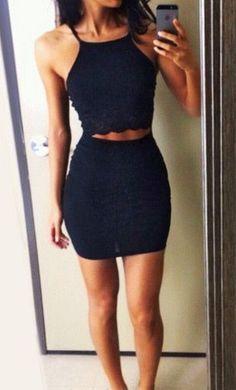 #street #style two piece black outfit @wachabuy