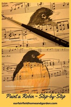 Paint a Robin ~ Step-by-Step watercolor tutorial from Our Fairfield Home and Garden