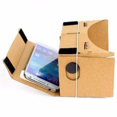 "DIY 5.0"" Screen Google VR 3D Glasses Magnet Google Cardboard Virtual Reality VR Mobile Phone High quality 3D Viewing Glasses"