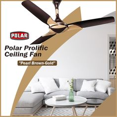 Polar Prolific Ceiling Fan, a fan of premium quality and look with powerful energy efficient motor. #Polar #Fan #CeilingFan #PolarCeilingFan #ProlificCeilingFan Energy Efficiency, Ceiling Fan, Contemporary Design, Energy Conservation, Ceiling Fans