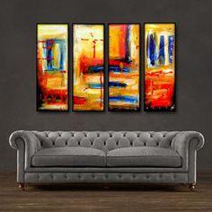 "'Color splash II' - 48"" X 30"" Original Abstract Art Painting"