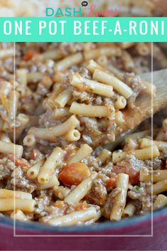 Friday night dinner: One Pot Beef-a-Roni - Dash Of Evans Easy Appetizer Recipes, Dinner Recipes, Dinner Ideas, Meal Ideas, Food Ideas, Beef A Roni, One Pot Meals, Easy Meals, Beef Recipes