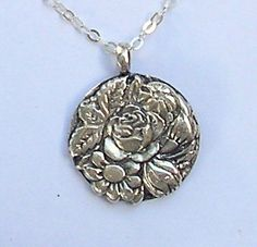 Flowers with Sterling Silver Handmade by HedvaElanyJewelry on Etsy, $42.00