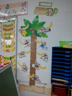 Carisa S. LOVES her new Monkey Jobs Chart! Swing into her classroom! by carlani Jungle Classroom Door, Forest Classroom, Classroom Layout, Classroom Jobs, Classroom Design, Preschool Classroom, Future Classroom, Classroom Organization, Classroom Decor
