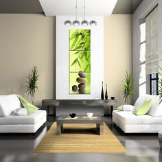 Zen Bamboo & Stone Peaceful Relax Wall Art Fiberboard by CanvasCEO, $122.00