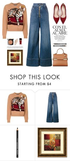 """""""..."""" by yexyka ❤ liked on Polyvore featuring Dolce&Gabbana, E L L E R Y, NYX, Amanti Art, Tom Ford and NYFW"""