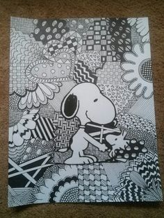 A Snoopy Zentangle.