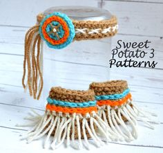 PATTERN Indian Headband  Crochet  Head by SweetPotato3Patterns