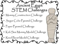 Engineering Ancient Egypt STEM Engineering Challenges Five Pack 8 tpt Ancient Egypt Lessons, Ancient Egypt Activities, Ancient Egypt For Kids, Ancient History, Ancient Egypt Games, Ancient Egypt Crafts, Egyptian Crafts, Women's History, European History