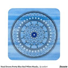 Shop Hand Drawn Pretty Blue And White Mandala Flower Canvas Print created by zedart. Mandala Canvas, Paint Background, Flower Canvas, Flower Mandala, Drink Coasters, Canvas Art Prints, Hand Drawn, How To Draw Hands, Outdoor Blanket