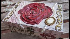 Decorar caja de madera con decoupage en relieve de porcelana fria Parte 2