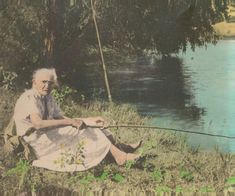 cane pole fishing- Reminds me of Grandma Myrtle.  She loved fishing at the pond.