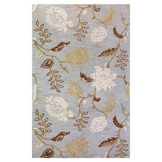 """8'6"""" x 11'6"""" $559  Anchor your living room seating group or define space in the den with this artfully hand-tufted wool rug, featuring a flowering vine motif for garden-chic ap..."""