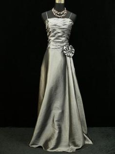 Cherlone-Satin-Grey-Prom-Ball-Lace-Bridesmaid-Formal-Wedding-Evening-Gown-Dress