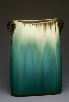 Jan Bilek,Teal Oval Vase - 11 x 5 inches Slab Pottery, Pottery Vase, Ceramic Pottery, Thrown Pottery, Kintsugi, Ceramic Clay, Ceramic Bowls, Handmade Pottery, Handmade Ceramic