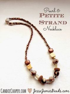 Jesse James Beads: How to Make a Pretty Pearl Necklace with Jesse James Beads!