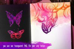 Watercolor Painting: Butterflies by Varvara Gorbash on Creative Market