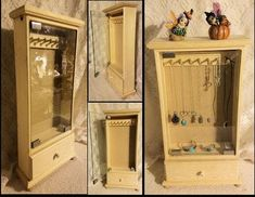 Handmade  display cabinet,Jewelry case,show case, cabinet with drawer,pine jewelry case,wood display cabinet,display cabinet with drawer
