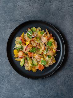 Pisco Sour, Food Porn, Bruschetta, Pasta Salad, Main Dishes, Fish, Ethnic Recipes, Teller, Mango