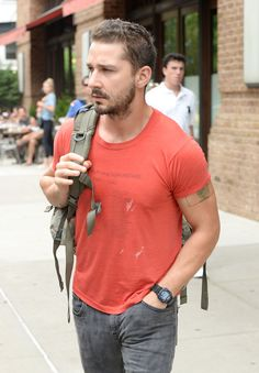 Shia LaBeouf — Leaving his hotel in New York City — July 23, 2014 #ShiaLaBeouf