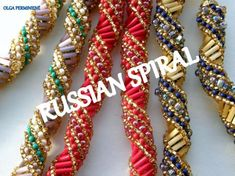 love these bead color combinations Seed Bead Necklace, Beaded Necklace, Beaded Bracelets, Loom Patterns, Beading Patterns, Bugle Beads, Seed Beads, Spiral Pattern, Bead Weaving