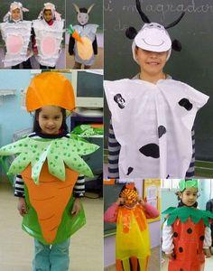 disfraces con bolsas de plastico T Shirt Costumes, Diy Costumes, Costume Ideas, Vegetable Costumes, Carnival Fantasy, Little Girl Costumes, Fruit Costumes, Handmade Halloween Costumes, Carnival Crafts