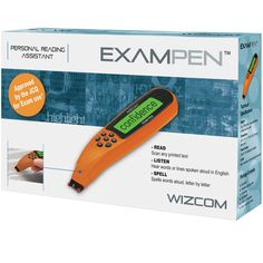 Exam Pen – the ultimate portable exam reader that helps you read exam text independently. Adaptive Equipment, Assistive Technology, Read Aloud, Spelling, Literacy, Lettering, Reading, Words, Dyslexia