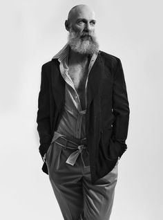 AMCK Models - Representing the best international fashion modeling talent - London UK. Fashion Models, Men's Fashion, Stephen Curry Shoes, International Fashion, Beards, Leather Jacket, Inspire, Casual, Silver