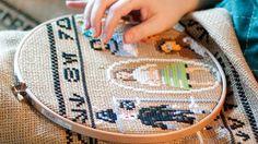 Artesanía Jedi: La historia de 'Star Wars' contada en un tapiz